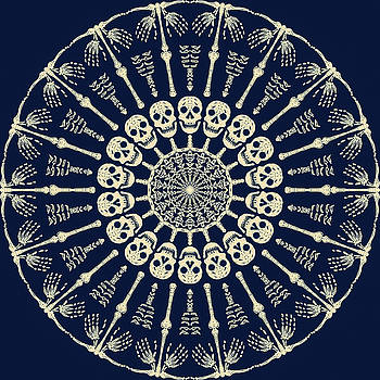 Bone Mandala by Ronda Broatch