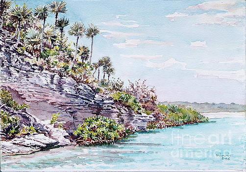 Bonefish Creek watercolour study by Eddie Minnis