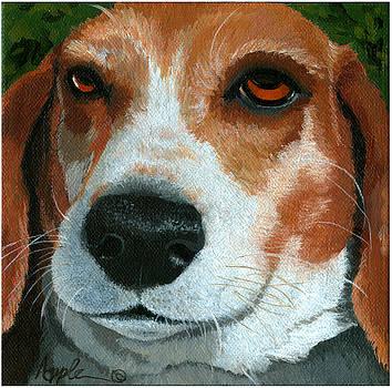 Bonnie - Beagle painting by Linda Apple