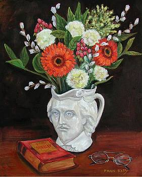 Fran Kelly - Book and Flowers