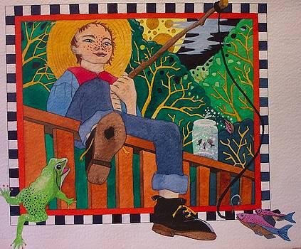 book illustration - Tom Sawyer by Victoria Heryet