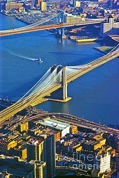 Booklyn and Manhattan Bridges by Larry Mulvehill