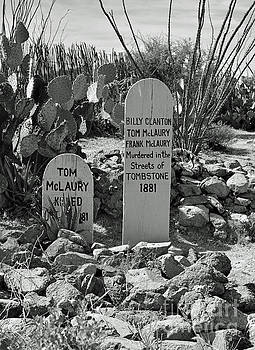 Boot Hill Tombstone by Jim Chamberlain