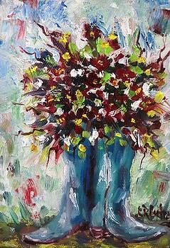 Boot Vase by Sandra Cutrer