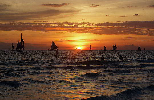 Boracay sunset by Christopher Rowlands