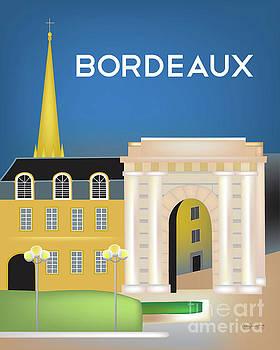 Victor Hugo Arch - Bordeaux, France Vertical Scene by Karen Young