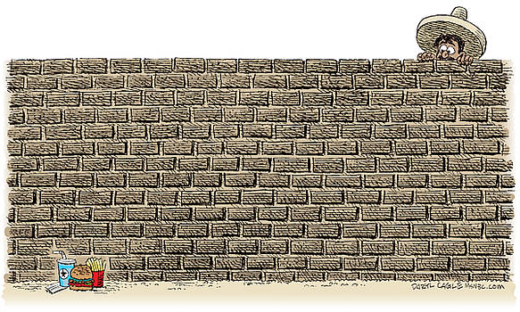Border Wall by Daryl Cagle
