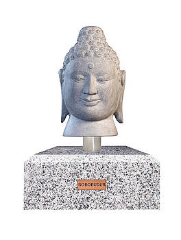 Buddha sculpture - Borobudur  by Terrell Kaucher