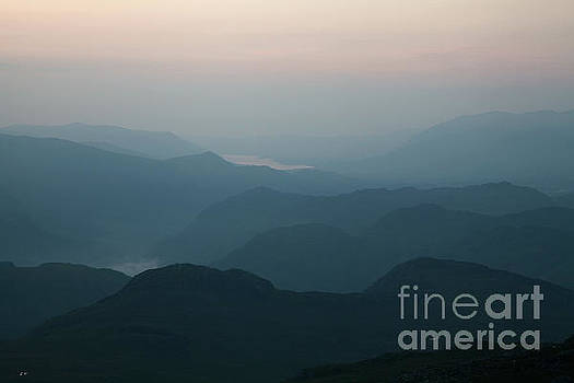 Borrowdale Fells dusk by Gavin Dronfield