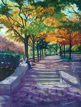Boston Autumn by Katherine  Berlin