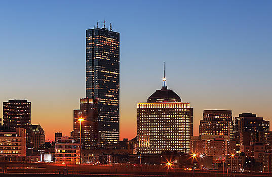 Boston Back Bay Sunset by Juergen Roth