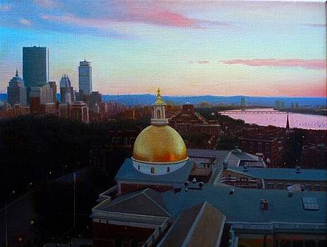 Boston Beacon HIll and Backbay, Sunset by Yoshi Mizutani