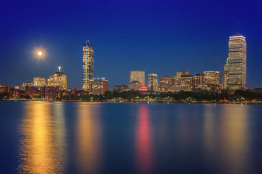 Sylvia J Zarco - Boston Blue Moon Skyline