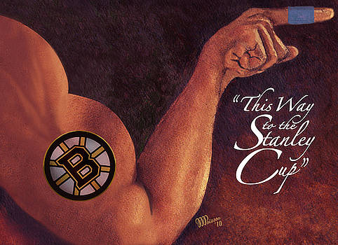 Boston Bruins - This Way To The Stanley Cup by Jean-Marie Poisson