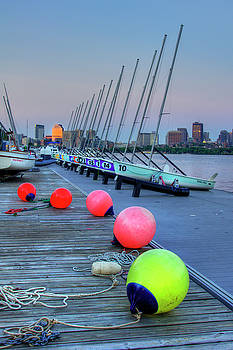 Boston Charles River MIT Sailing by Joann Vitali