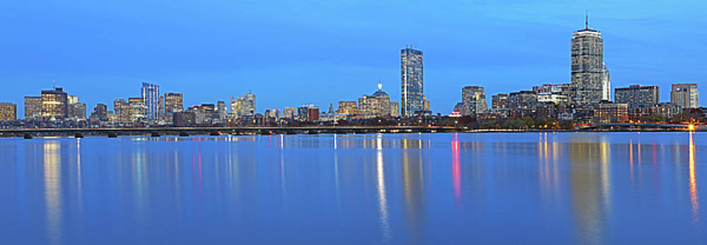 Boston Charles River Skyline Panorama Photography Image by Juergen Roth
