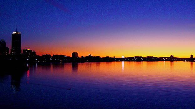 Boston Citgo Sunset by Justin Junge