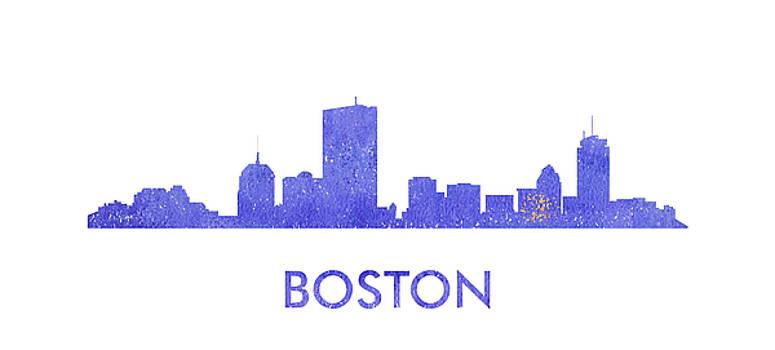 Vyacheslav Isaev - Boston city purple skyline