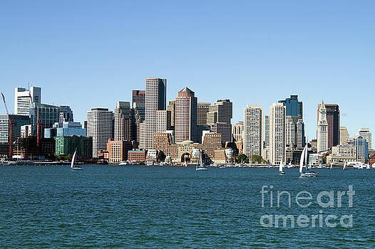Boston City Skyline by Steven Frame