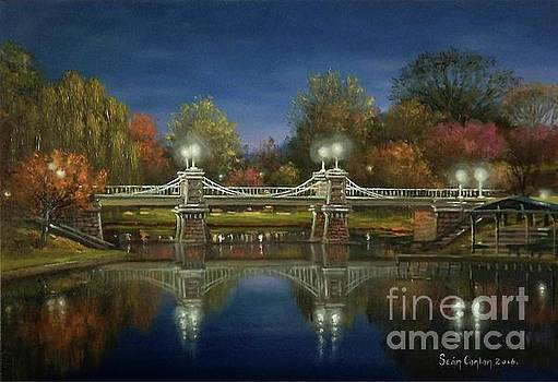 Boston Common Bridge Twilight by Sean Conlon