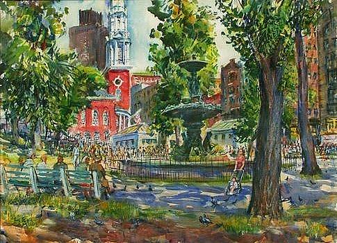 Boston Commons at Park Street Station by Charles Demetropoulos