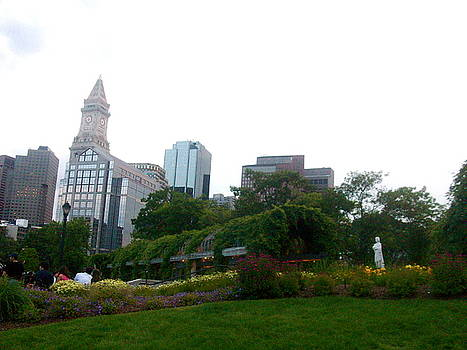Boston from the Greenway Parks 2 by Maria Mills