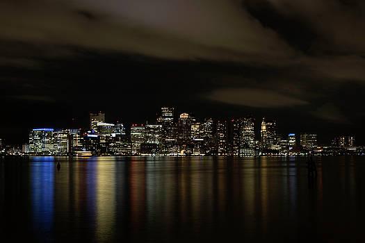 Boston Harbor Skyline by John Forde