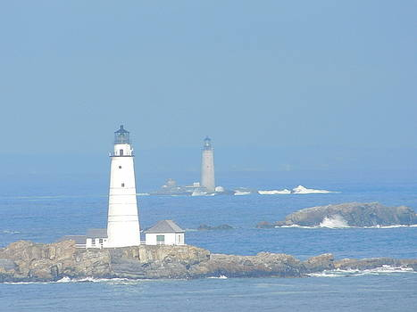Boston Harbors Lighthouses by Catherine Gagne