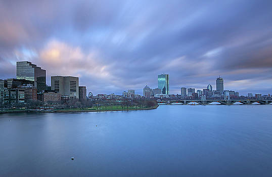Boston Long Exposure Photography of the Charles River Skyline by Juergen Roth
