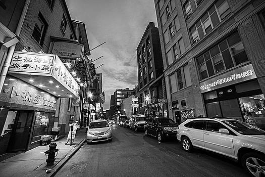 Toby McGuire - Boston MA China Town Black and White