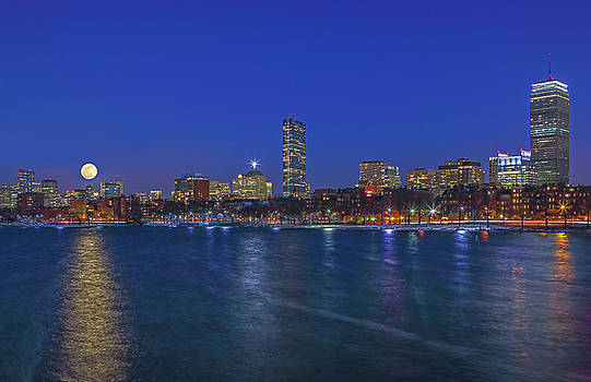 Boston Moon Rise by Juergen Roth