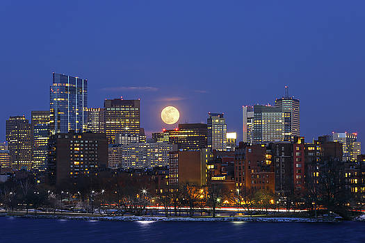 Boston Moonrise by Juergen Roth