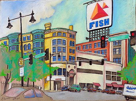 Boston Pastel 001 - Fish by Steve Emery