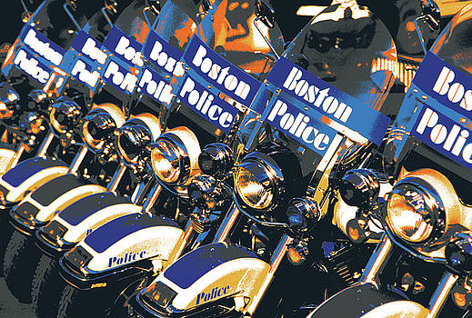 Boston Police Motorcycles by Shay Culligan
