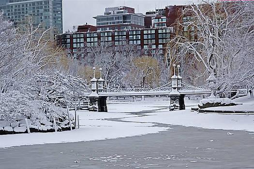 Toby McGuire - Boston Public Garden Bridge Covered in Snow