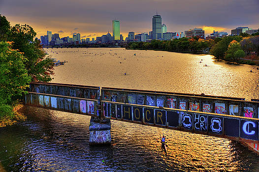 Joann Vitali - Boston Skyline at Sunrise over The Charles RIver