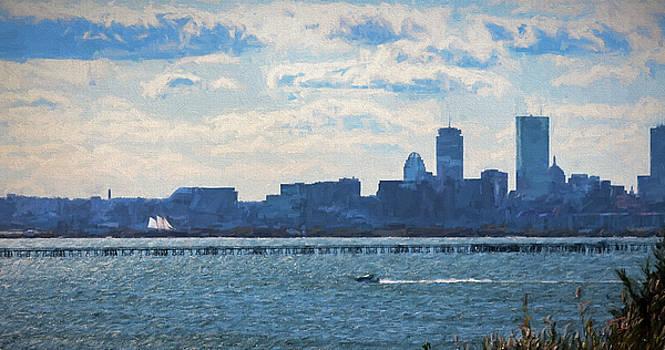 Thomas Logan - Boston Skyline from Deer Island