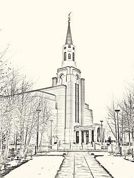 Boston temple by Misty Alger