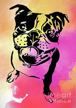 Boston Terrier Art by Nikki and Kaye Menner by Kaye Menner