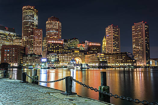 Boston Waterfront Boston Skyline Boston MA Harbor Towers by Toby McGuire