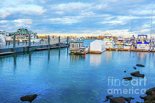 Boston Waterfront Marina by Lisa Kilby