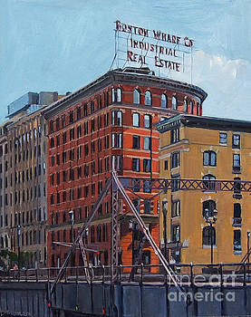 Boston Wharf Co on Summer Street by Deb Putnam