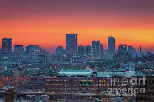 Boston Winter Sunset by Ryan McKee