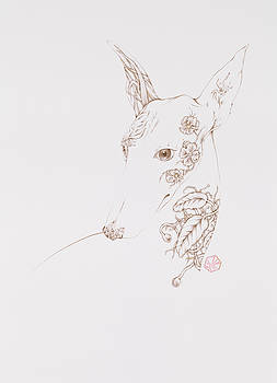 Botanicalia Greyhound by Karen Robey
