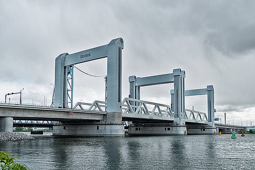 Botlek bridge in rotterdam, netherlands by Hans Engbers