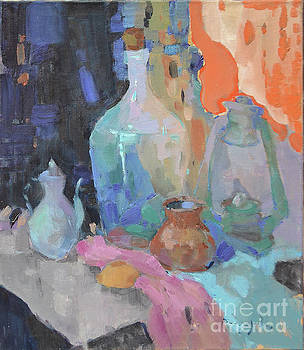 Bottle and lamp by Alexander Shandor