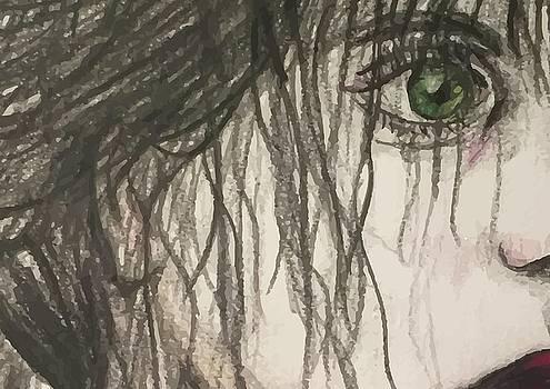 Bottle Green Red Lips by Paula Sharlea
