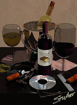 Bottle of Red...Bottle of White by Stuart Stone