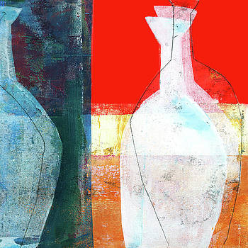 Bottle Print 1 by Jane Davies