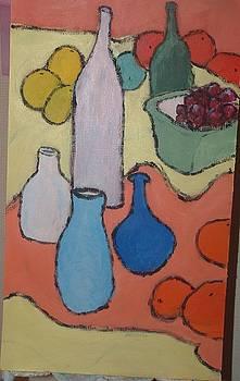 Bottles Fruit and Vases by Bernard Victor